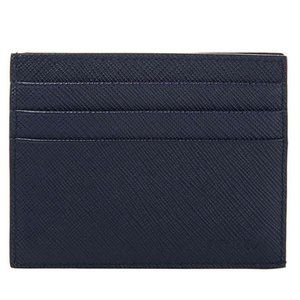 Prada Navy Blue Saffiano Bifold Wallet Card Holder